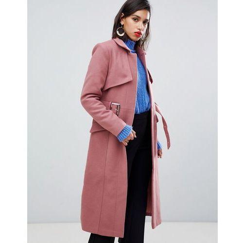 Y.A.S Belted Wool Coat - Pink, kolor różowy