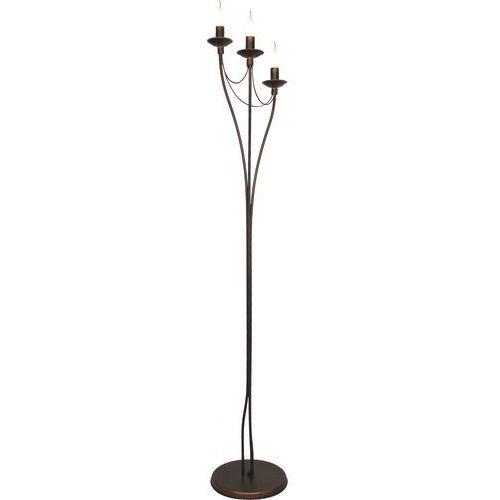 Lampa oprawa podłogowa świecznikowa Aldex Róża 3x40W E14 miedziana 397A16