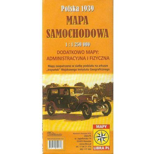 Mapa samochodowa- Polska 1939 + zakładka do książki GRATIS, pozycja wydana w roku: 2015
