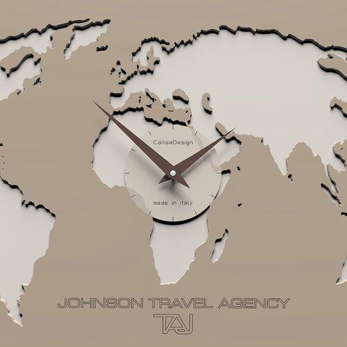 Zegar ścienny ze strefami czasowymi Cosmo CalleaDesign caffelatte (12-001-14), kolor brązowy