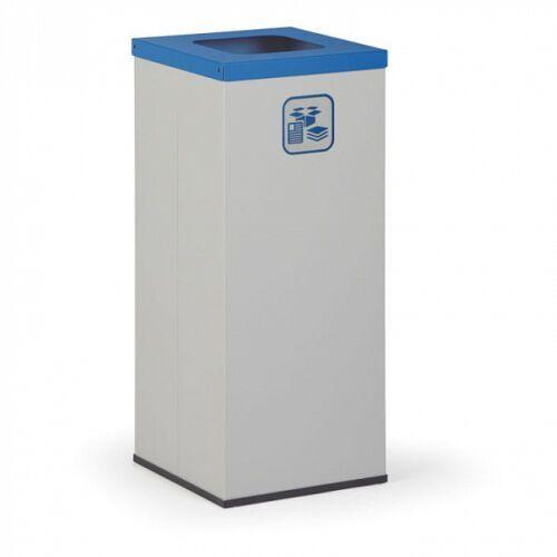 Kosz do segregacji śmieci, 50 l, bez wewnętrznego pojemnika, szary/niebieski