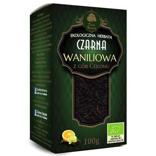 Dary natury - test Herbata czarna waniliowa bio 100 g - dary natury (5902581616975)