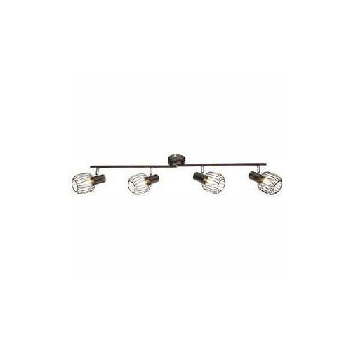 Lampa listwa oprawa sufitowa Globo Akin 4x40W E14 brązowa, chrom 54801-4, 54801-4