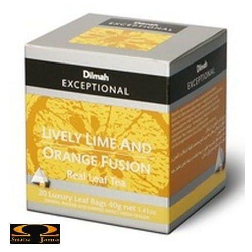 Herbata Dilmah Lively Lime & Orange Fusion - limonkowo pomarańczowa 20 torebek
