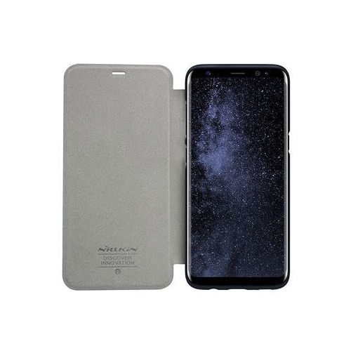 Samsung Galaxy S8 - etui na telefon Nillkin Sparkle - grafitowe, kolor szary