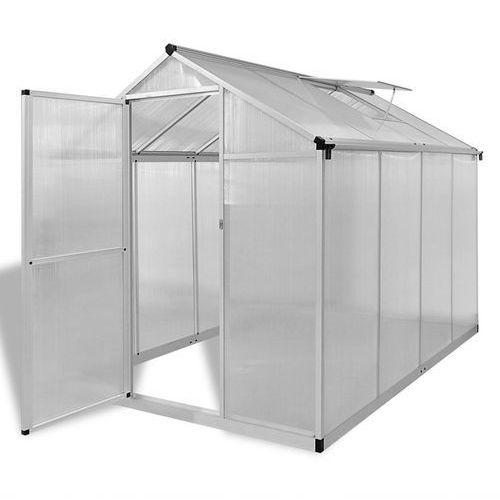 Vidaxl szklarnia ogrodowa ze wzmacnianą aluminium ramą 4,6 m2