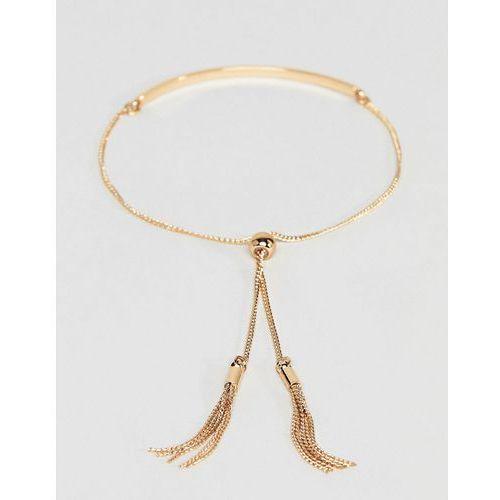 ASOS DESIGN Toggle Chain Metal Bar Bracelet - Gold