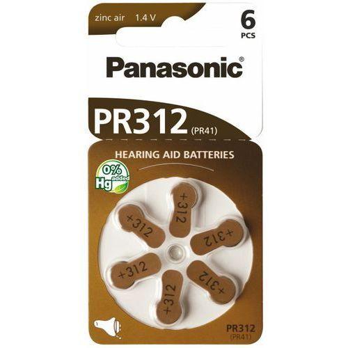 Panasonic Bateria do aparatu słuchowego pr-312/pr-41 6 szt (5410853057031)