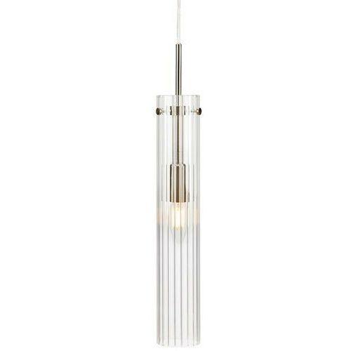Markslojd Tubo 108112 lampa wisząca zwis 1x40W E14 stalowa/transparentna
