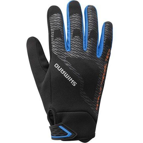 Rękawiczki zimowe windbreak thermal ref czarne marki Shimano