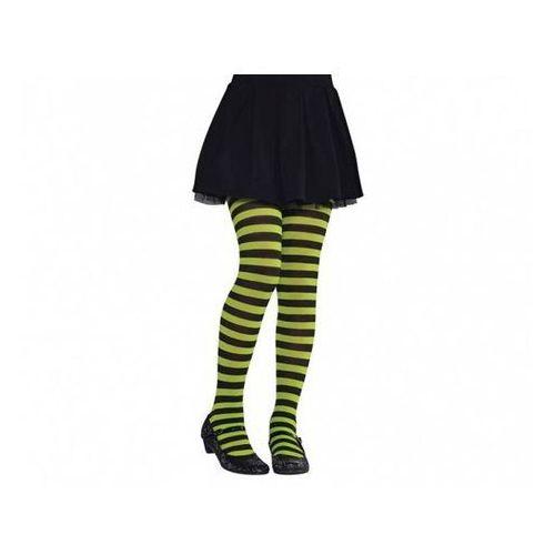Rajstopy w zielono-czarne paski dla dziewczynki marki Amscan