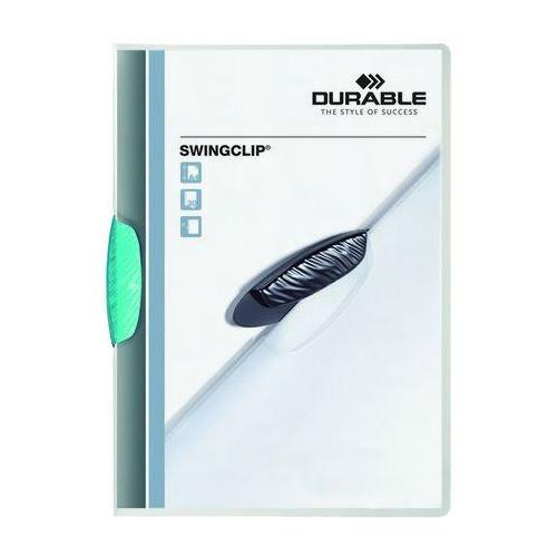 Skoroszyt zaciskowy swingclip błękitny a4/30k. marki Durable