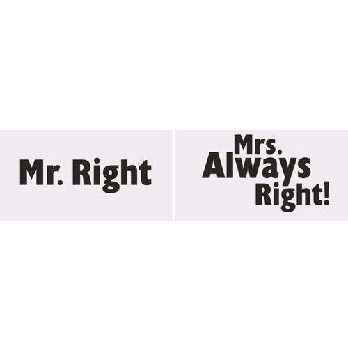 Ap Foto rekwizyty mr. right/mrs. always right! - 2 elem.