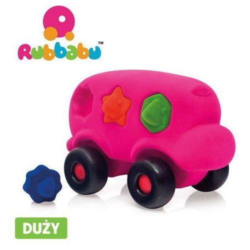 Autobus sorter z 6 klockami sensorycznymi - różowy - Rubbabu