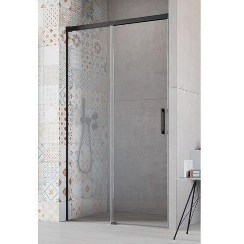 Radaway drzwi wnękowe idea black dwj 120 lewe, szkło przejrzyste wys. 205 cm, 387016-54-01l