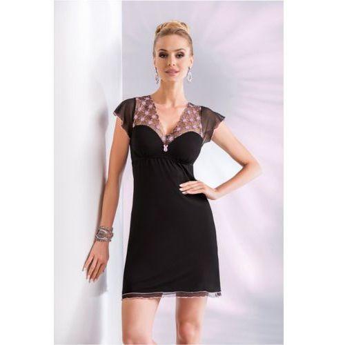 Koszula nocna model paris black, Donna