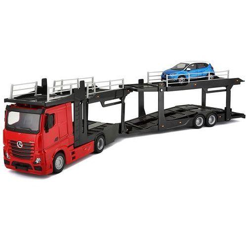 BBurago model samochodu ciężarowego Mercedes Benz Actros 1:43 + samochodzik (4893993314560)