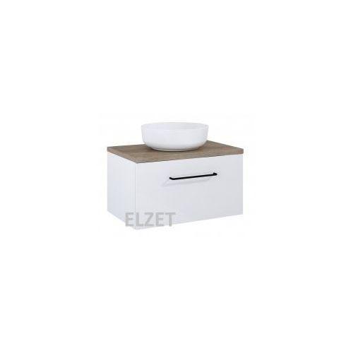 szafka futuris white pod umywalkę nablatową + blat 70 dąb classic 166932.166898 marki Elita