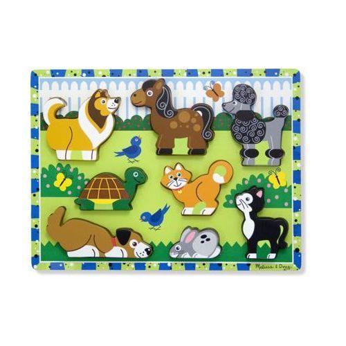 Puzzle drewniane zwierzęta 13724 marki Melissa & doug