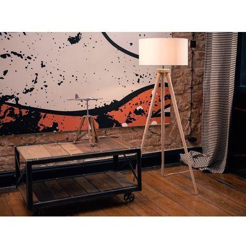 Lampa stojąca - lampa podłogowa w kolorze białym - oświetlenie - nitra marki Beliani