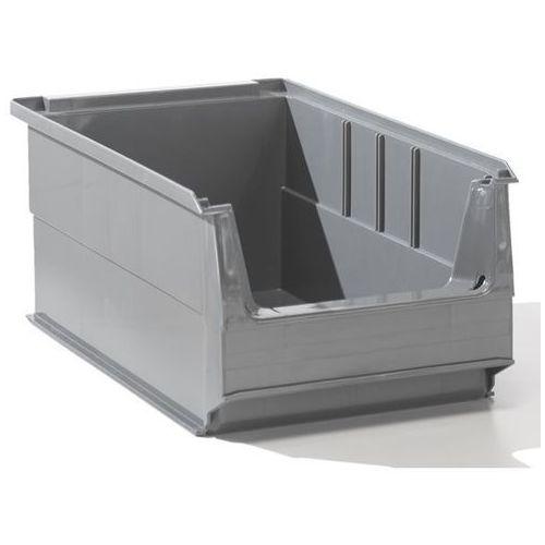 Przejrzysty pojemnik magazynowy z recyrkulowanego PE, poj. 7,2 l, szary, opak. 2