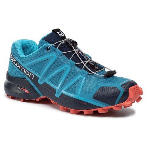 Salomon Buty - speedcross 4 407864 28 v0 fjord blue/navy blazer/cherry tomato