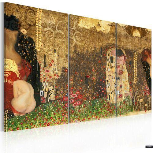 Selsey obraz - gustav klimt - inspiracja, tryptyk 120x80 cm (5903025019901)
