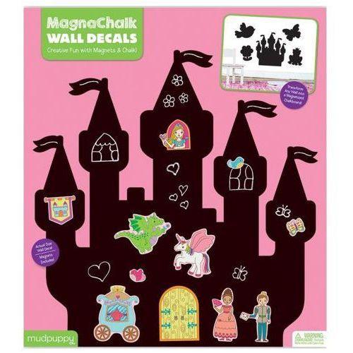 Mudpuppy  tablica kredowa z magnesami - księżniczki