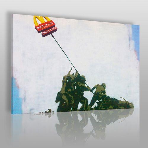 Banksy - Flaga McDonalds - nowoczesny obraz na płótnie, 20012