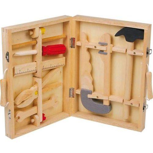 Skrzynka drewniana z narzędziami do zabawy dla dzieci bob- 8 elementów marki Small foot design