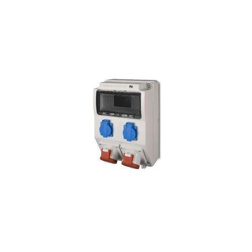 Rozdzielnica siłowa RS natynkowa 9-modułowa 2x230V 1x16A/5P 1x32A/5P 6223-00 Elektro-Plast, 6223-00