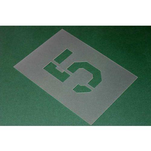 Komplet: 44 szablony litery i cyfry- krój czcionki carrier - wys. 30 cm marki Szabloneria.pl