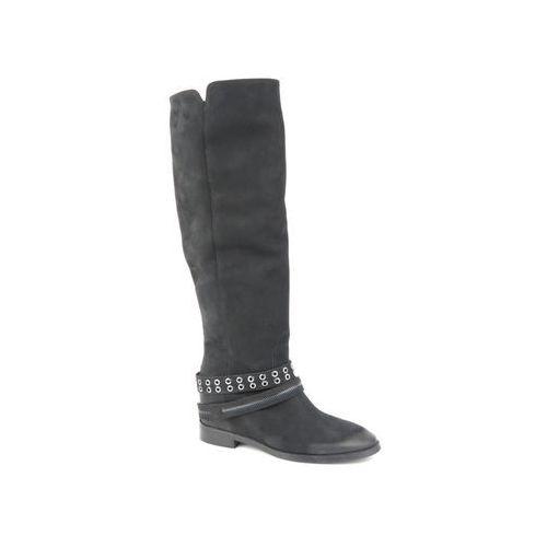 Kozaki damskie Badura 9347, kolor czarny