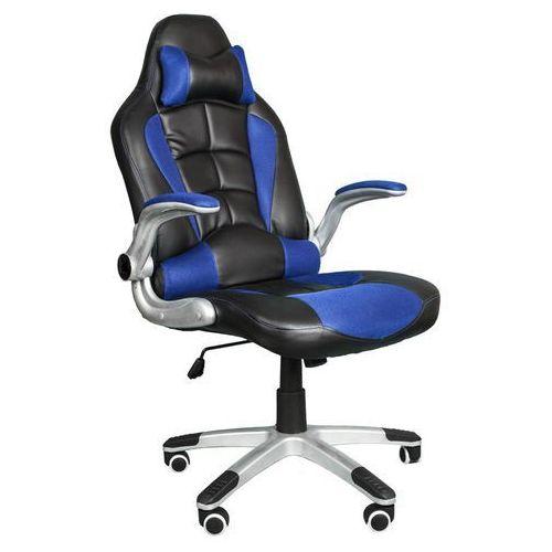 Fotel biurowy czarno-niebieski, model bst048 marki Giosedio