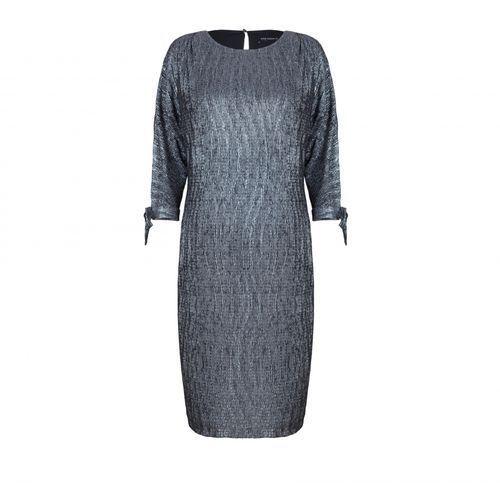 Sukienka ze srebrnym deseniem (Kolor: srebrny, Rozmiar: 46)