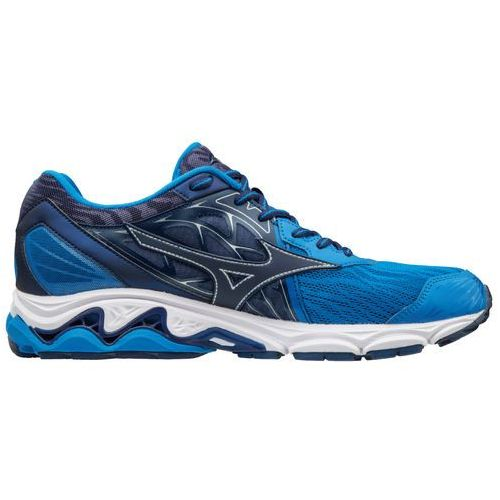 Mizuno Wave Inspire 14 Blue Yellow, kolor niebieski