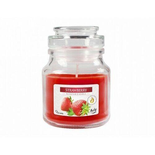4-home Świeczka zapachowa w szkle truskawka, 120 g