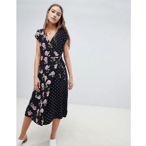 New Look Mix and Match Print Midi Dress - Black