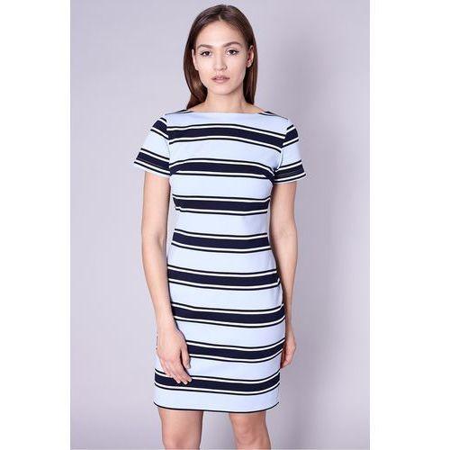 Sukienka w paski w odcieniach niebieskiego -  marki Click fashion