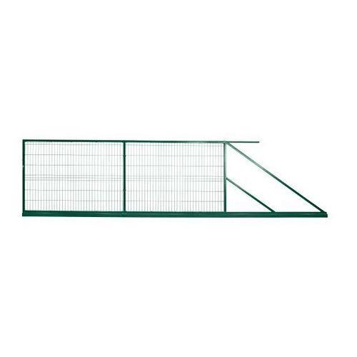 Brama przesuwna Polbram Steel Group 2D 400 x 150 cm z zamkiem ocynk malowana prawa (5901891477122)