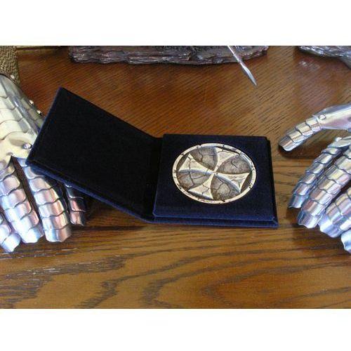 Płatnerze hiszpańscy Przycisk do papieru - medalion z krzyżem templariuszy (ag814.01)