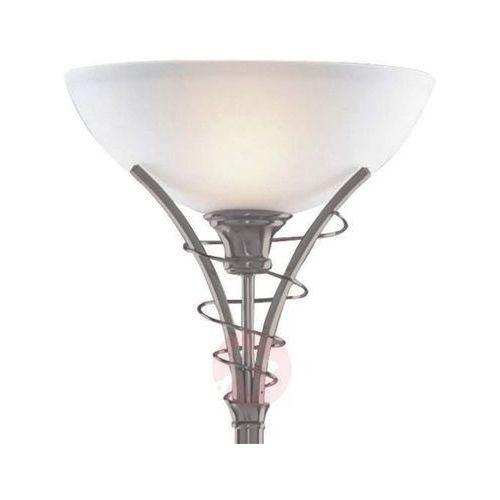 Ponadczasowa lampa stojąca lineas srebrny mat marki Searchlight