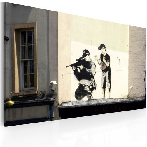 Obraz - Snajper i chłopiec (Banksy)