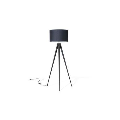 Beliani Lampa podłogowa czarna stiletto