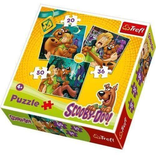 Trefl Scooby-doo. uwaga! duchy! puzzle 3w1 (5900511341454)