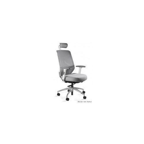 Krzesło biurowe Hero szaro- białe siatka/ tkanina, ZM-6661-W-BLH