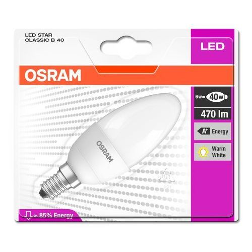 OSRAM LEDVANCE Żarówka LED STAR CLASSIC B40 6W (40W) 470lm E14 2700K (4052899911987)