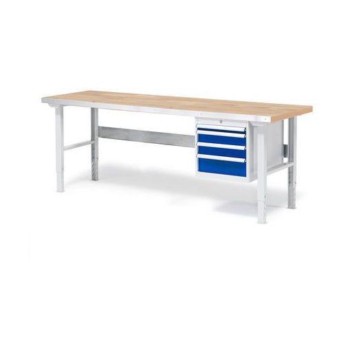 Stół warsztatowy z blatem o powierzchni dębowej 800x500x2000mm marki Aj produkty
