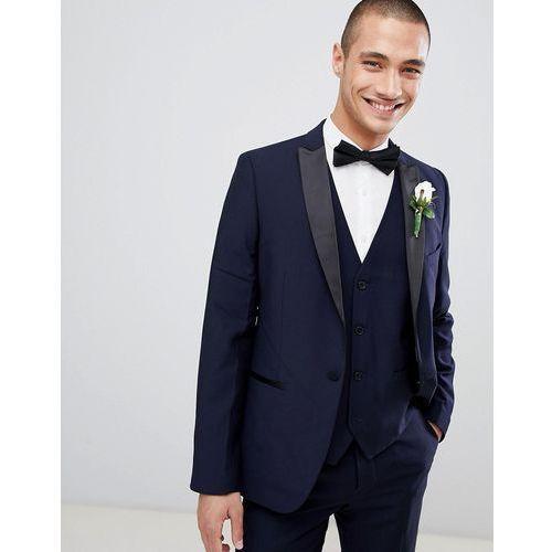 French Connection Slim Fit Peak Collar Tuxedo Jacket - Navy