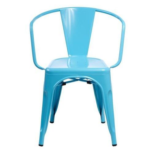D2.design Krzesło paris arms inspirowane tolix - niebieski